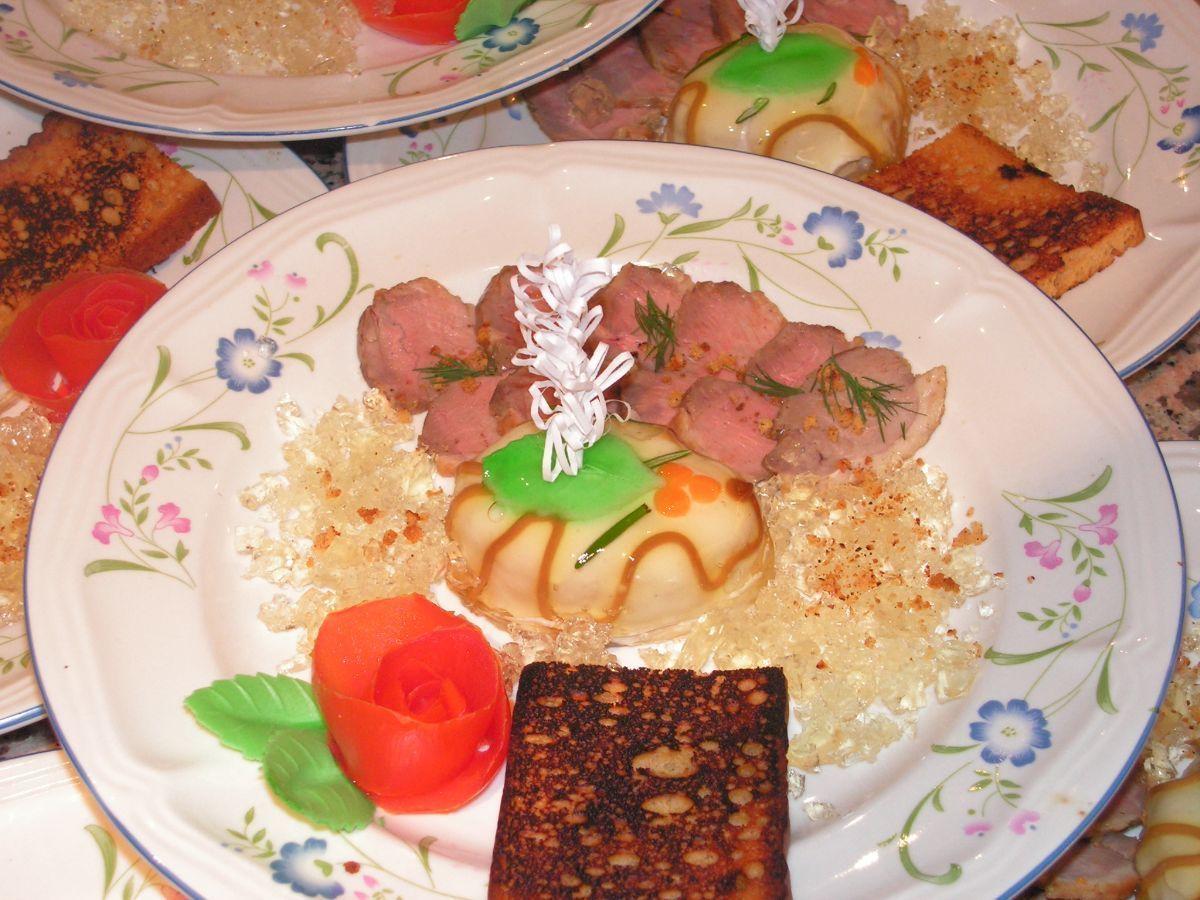 Chaud froid de foie gras et son filet de canard - Preparer son foie gras ...